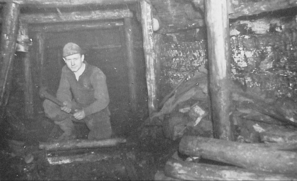 Gleisbau in Abbaustrecke
